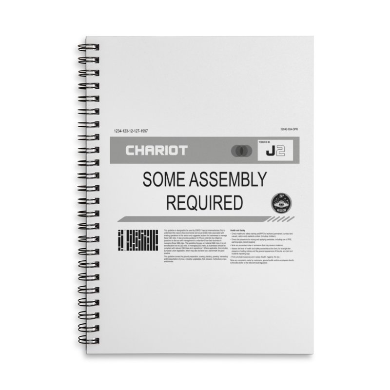 Some Assembly Required - Lost in Space Accessories Lined Spiral Notebook by Ian J. Norris