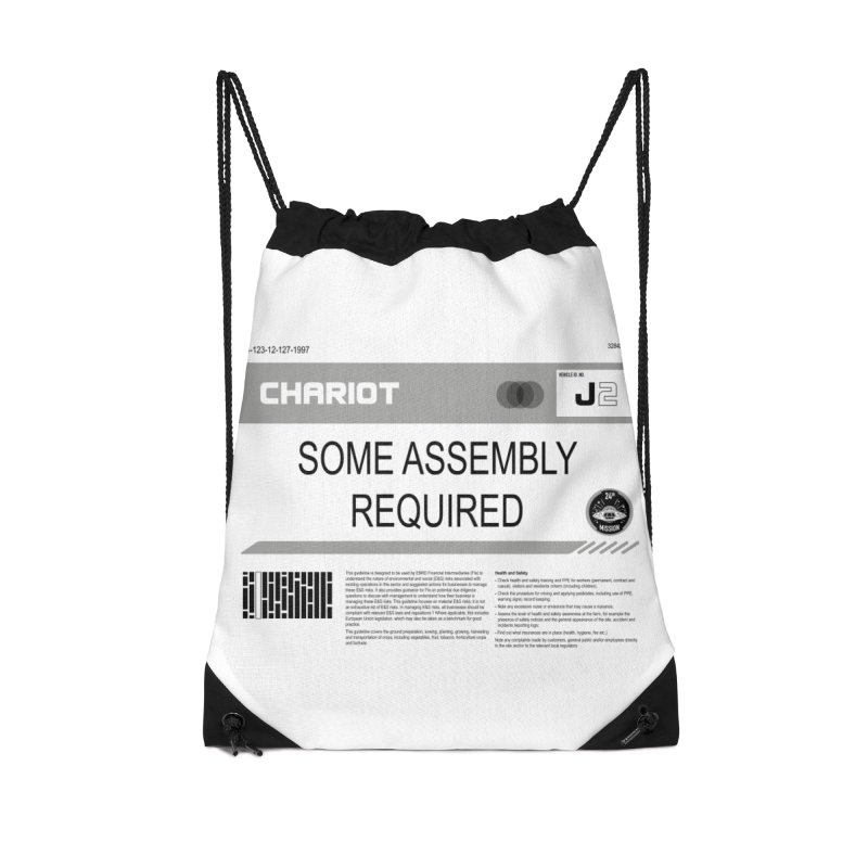 Some Assembly Required - Lost in Space Accessories Drawstring Bag Bag by Ian J. Norris