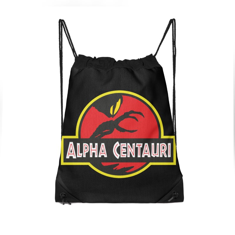 Alpha Centauri - Lost in Space Accessories Drawstring Bag Bag by Ian J. Norris