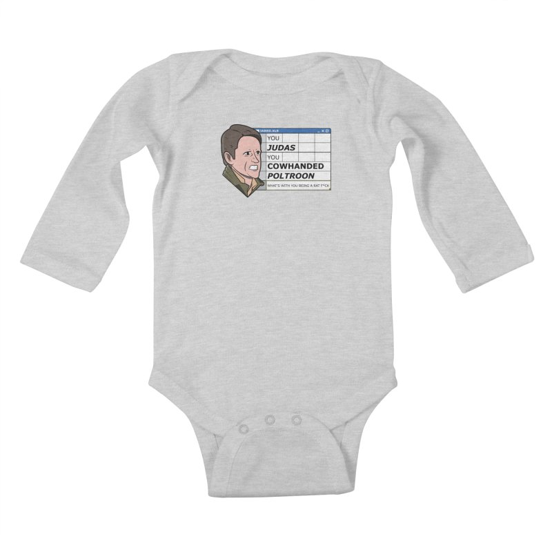 Jared - You Judas Kids Baby Longsleeve Bodysuit by Ian J. Norris