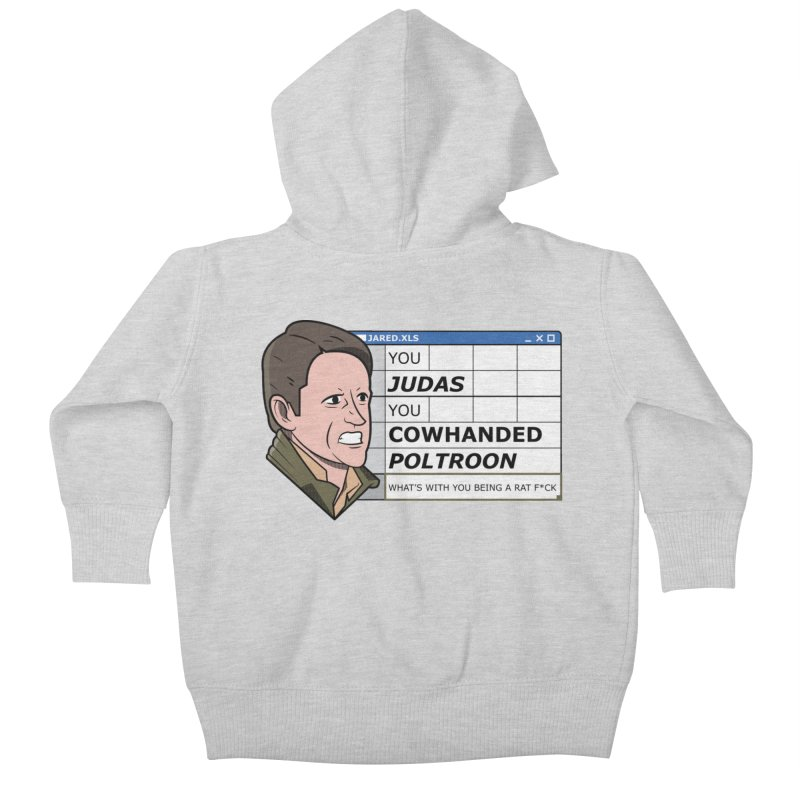 Jared - You Judas Kids Baby Zip-Up Hoody by Ian J. Norris