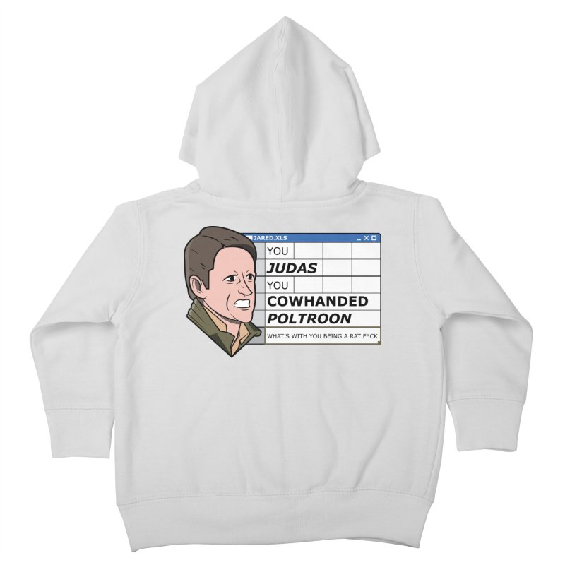 Jared - You Judas Kids Toddler Zip-Up Hoody by Ian J. Norris