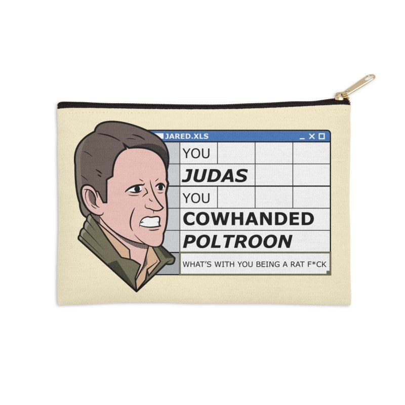 Jared - You Judas Accessories Zip Pouch by Ian J. Norris