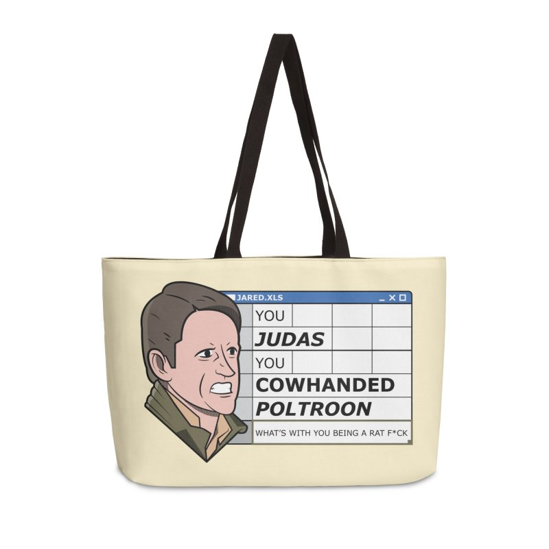 Jared - You Judas Accessories Weekender Bag Bag by Ian J. Norris