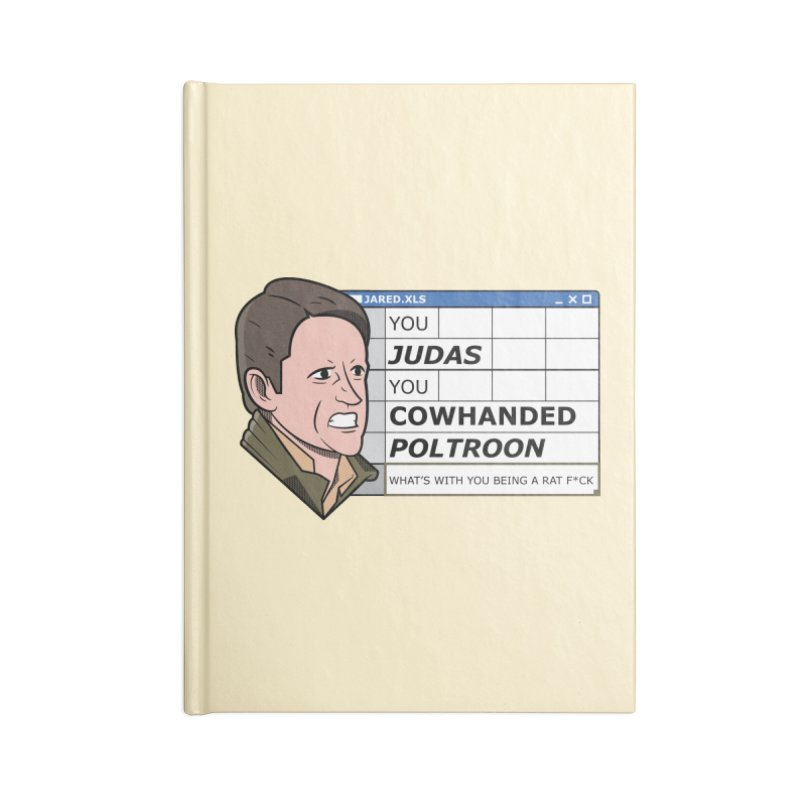 Jared - You Judas Accessories Blank Journal Notebook by Ian J. Norris