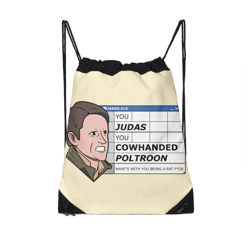 Jared - You Judas Accessories Drawstring Bag Bag by Ian J. Norris