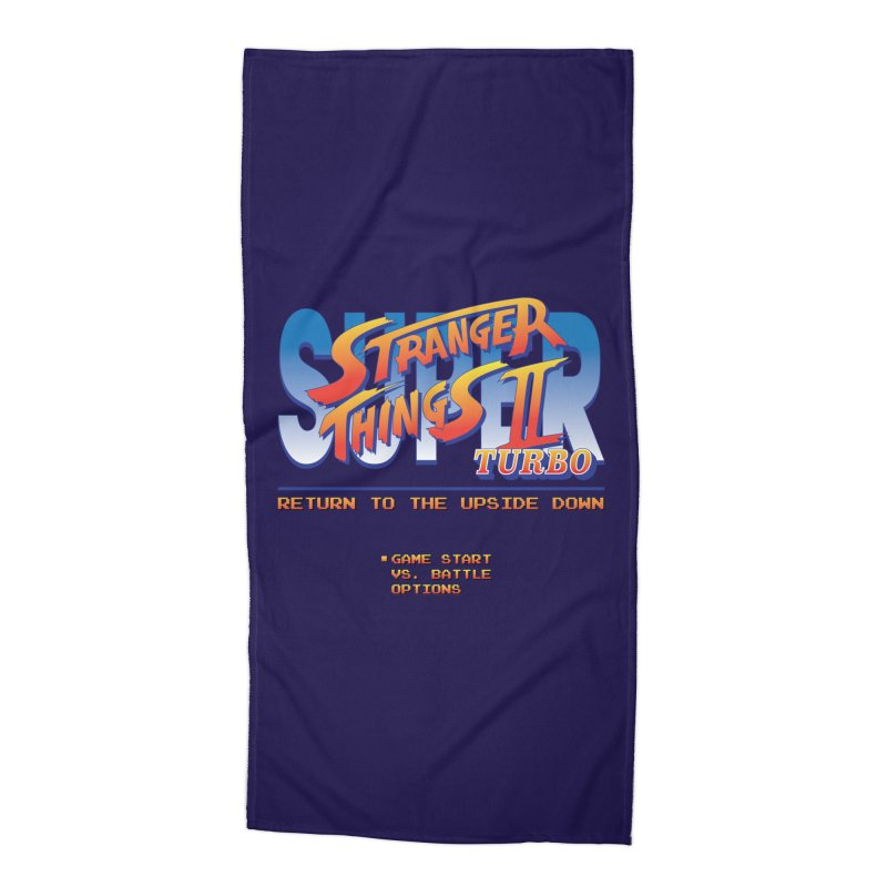 Super Stranger Things 2 Turbo Accessories Beach Towel by Ian J. Norris