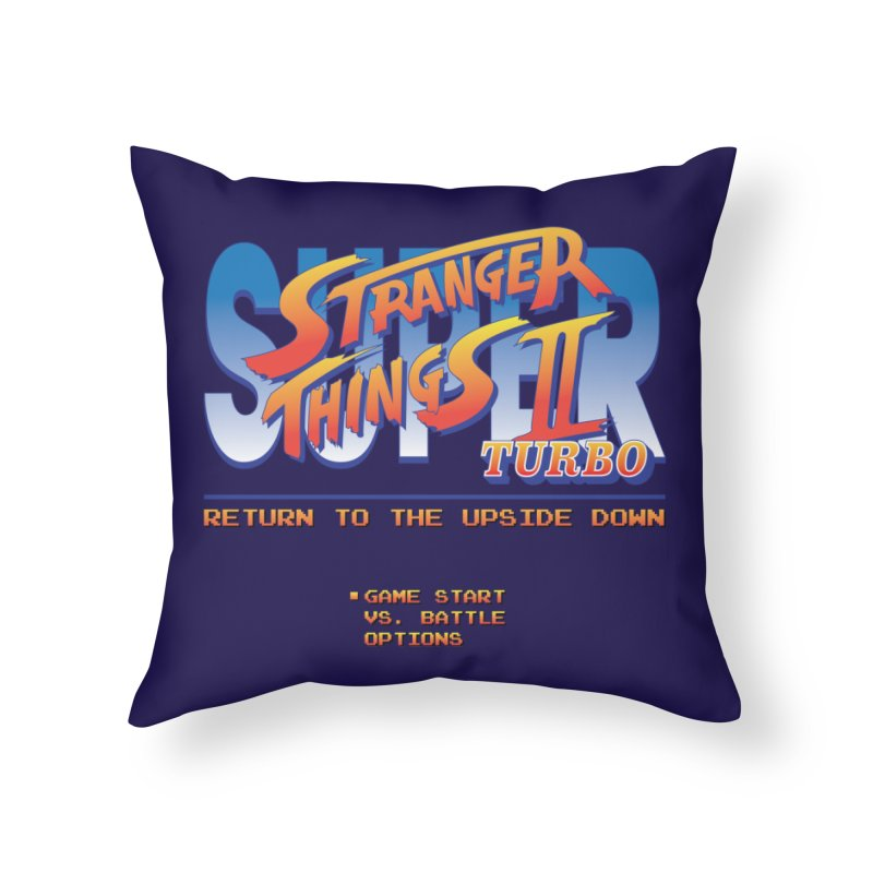 Super Stranger Things 2 Turbo Home Throw Pillow by Ian J. Norris