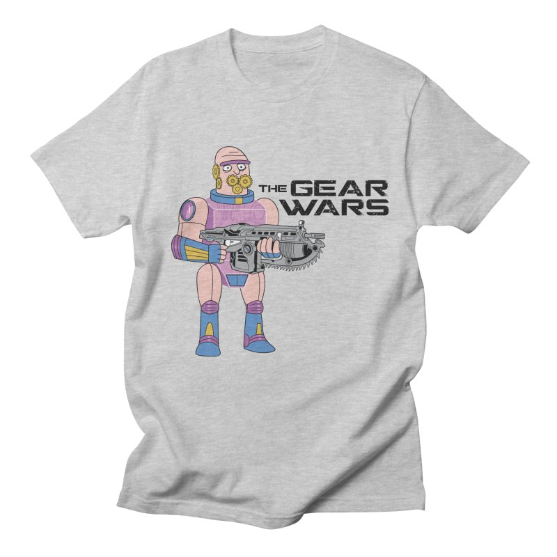 The Gear Wars in Men's Regular T-Shirt Heather Grey by Ian J. Norris