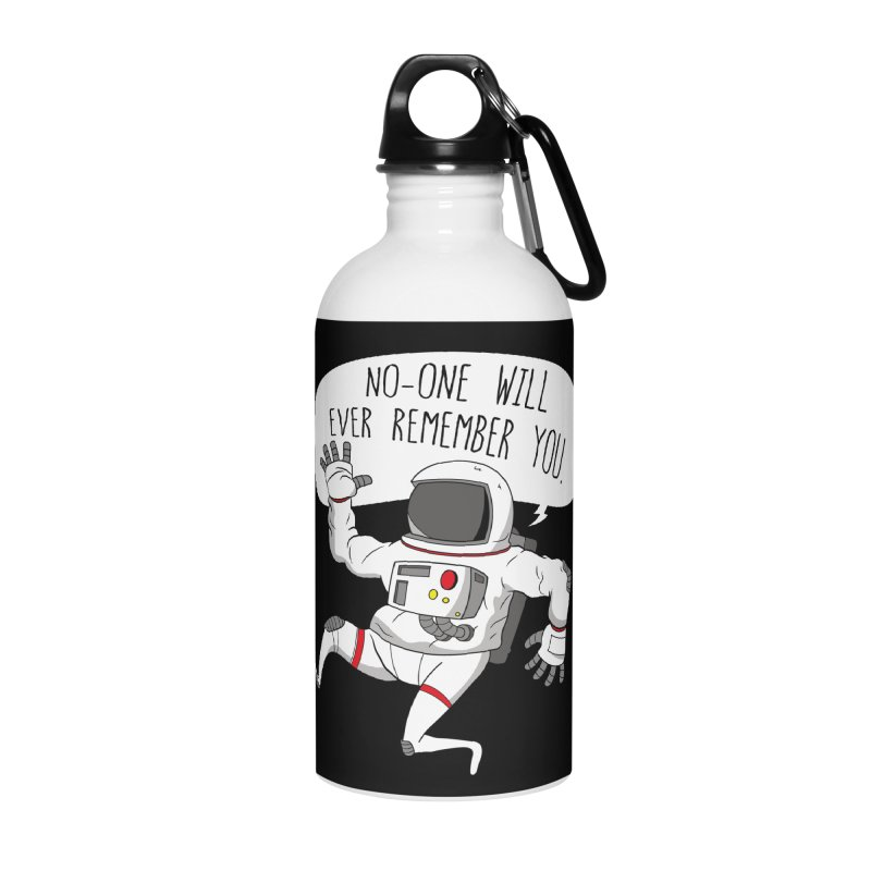 Cosmic Rain - The Astronaut Accessories Water Bottle by Ian J. Norris