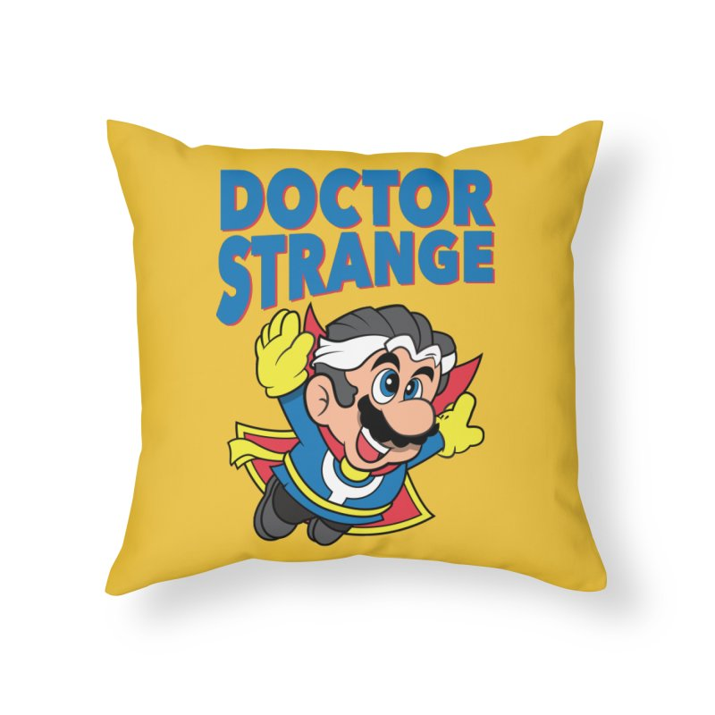 Doctor Strange Home Throw Pillow by Ian J. Norris