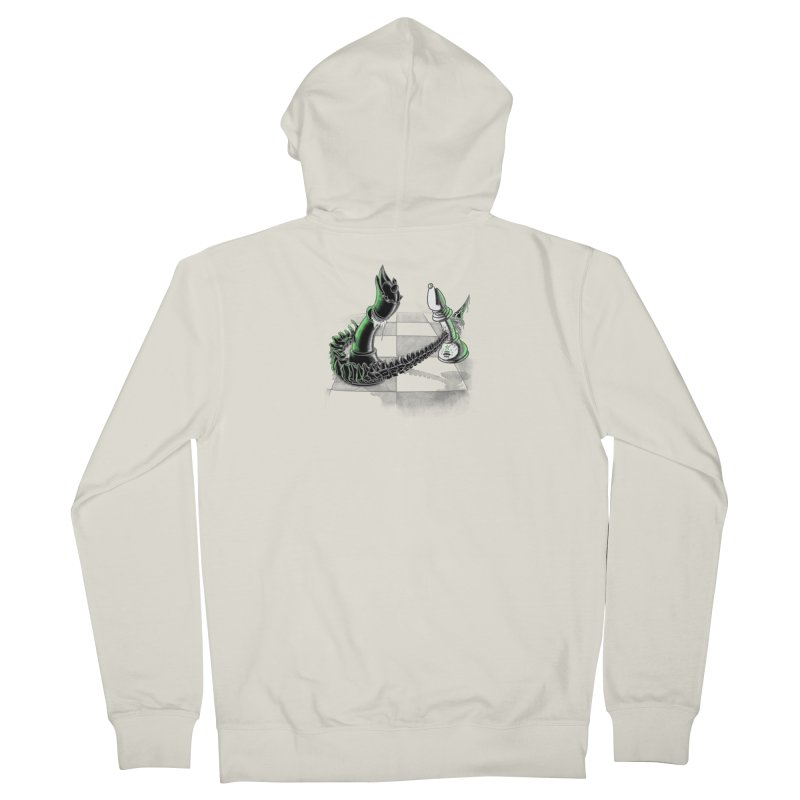 Queen Takes Bishop Women's French Terry Zip-Up Hoody by ibeenthere's Artist Shop
