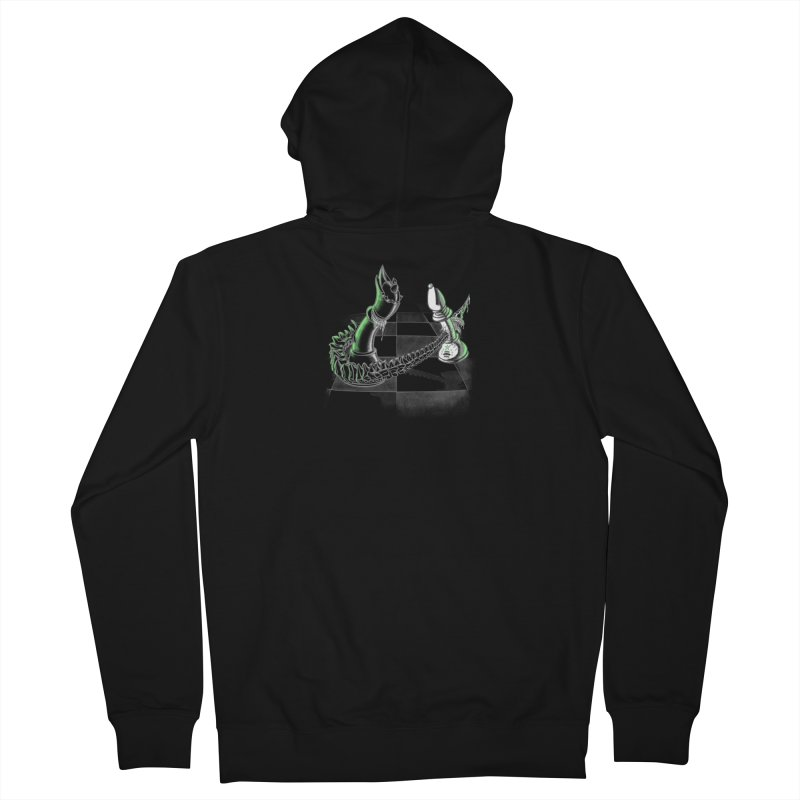 Queen Takes Bishop Men's French Terry Zip-Up Hoody by ibeenthere's Artist Shop