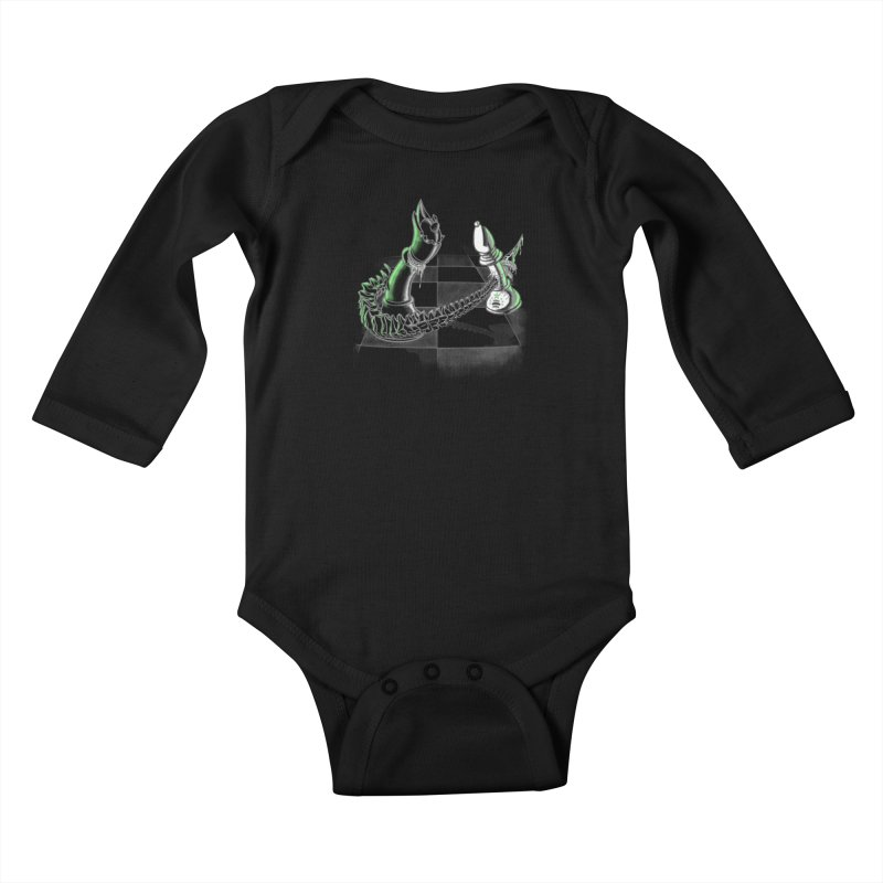 Queen Takes Bishop Kids Baby Longsleeve Bodysuit by ibeenthere's Artist Shop