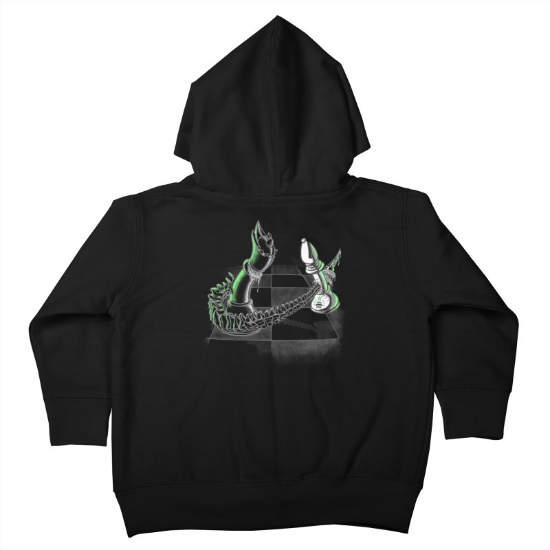 Queen Takes Bishop Kids Toddler Zip-Up Hoody by ibeenthere's Artist Shop