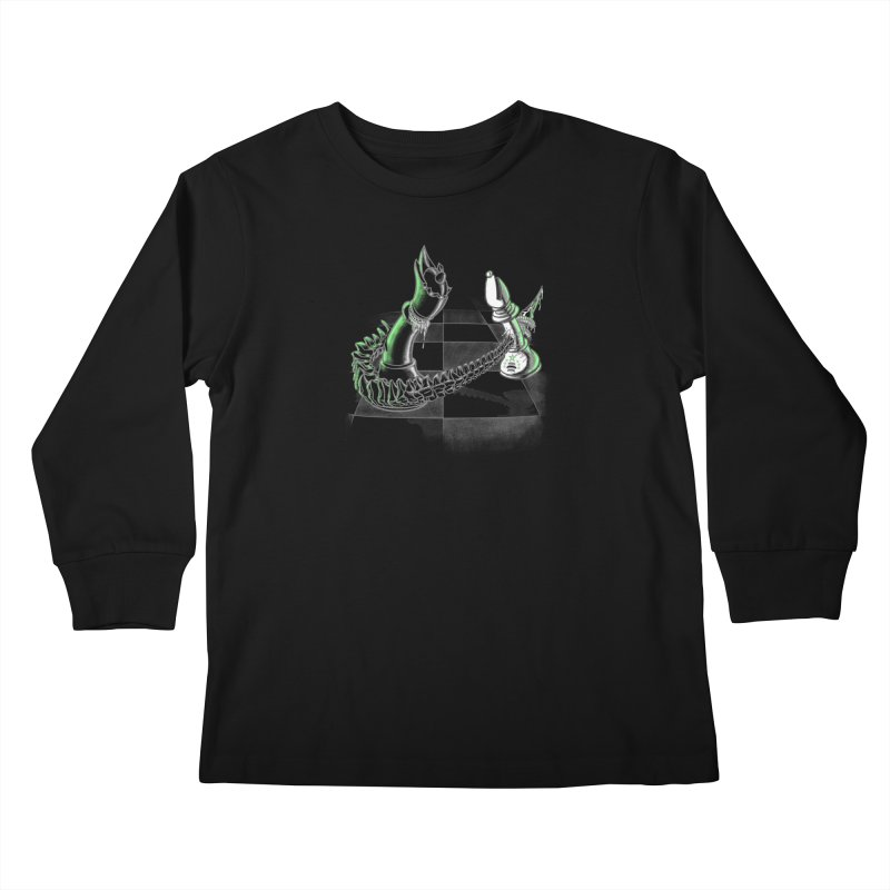 Queen Takes Bishop Kids Longsleeve T-Shirt by ibeenthere's Artist Shop