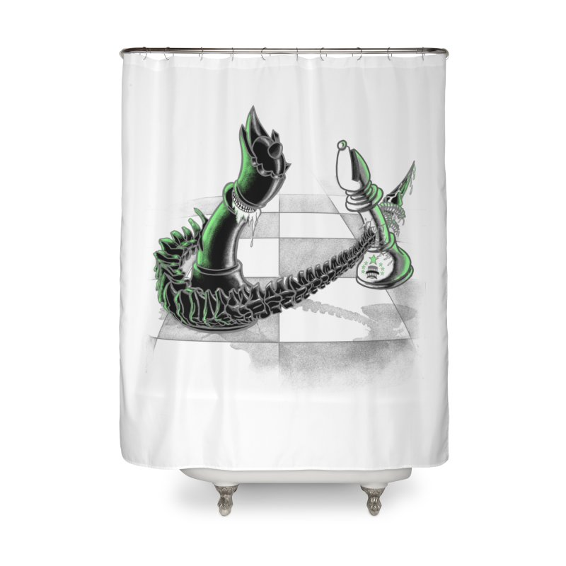 Queen Takes Bishop Home Shower Curtain by ibeenthere's Artist Shop