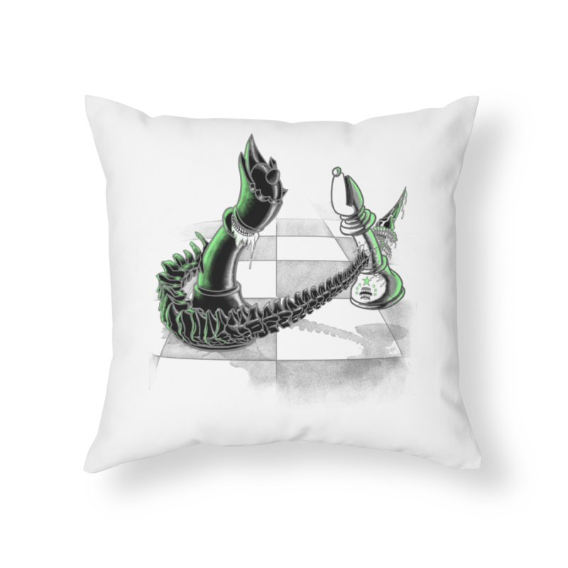 Queen Takes Bishop Home Throw Pillow by ibeenthere's Artist Shop