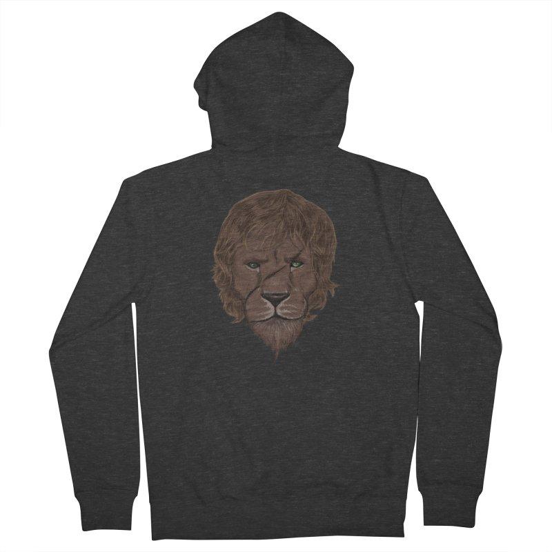 Scarred Lion Men's Zip-Up Hoody by ibeenthere's Artist Shop