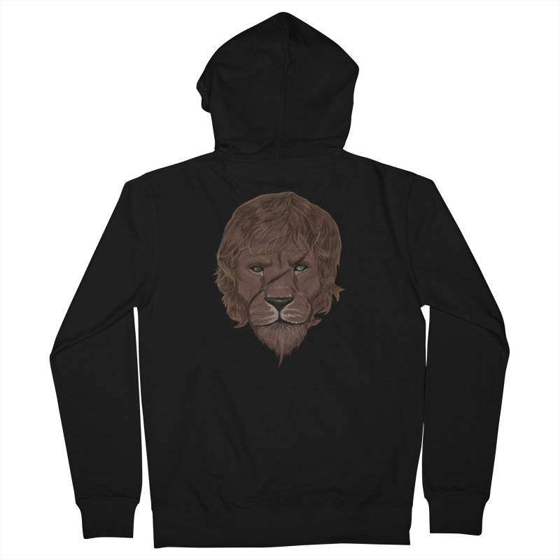 Scarred Lion Men's French Terry Zip-Up Hoody by ibeenthere's Artist Shop