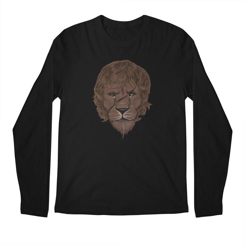 Scarred Lion Men's Regular Longsleeve T-Shirt by ibeenthere's Artist Shop
