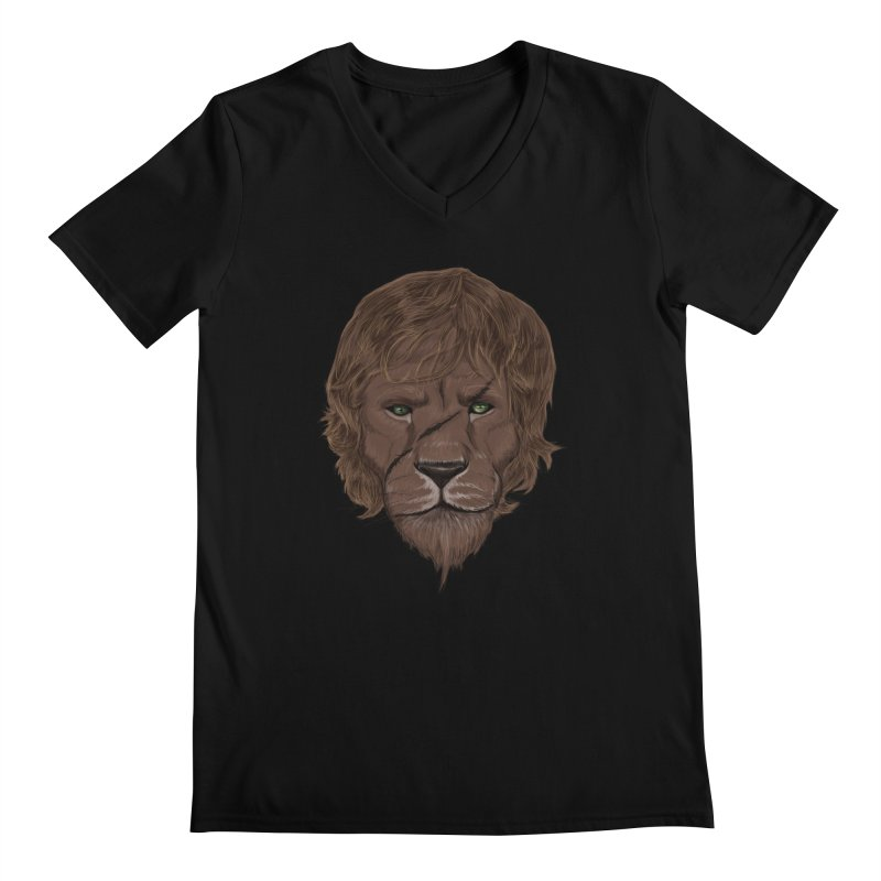 Scarred Lion Men's V-Neck by ibeenthere's Artist Shop