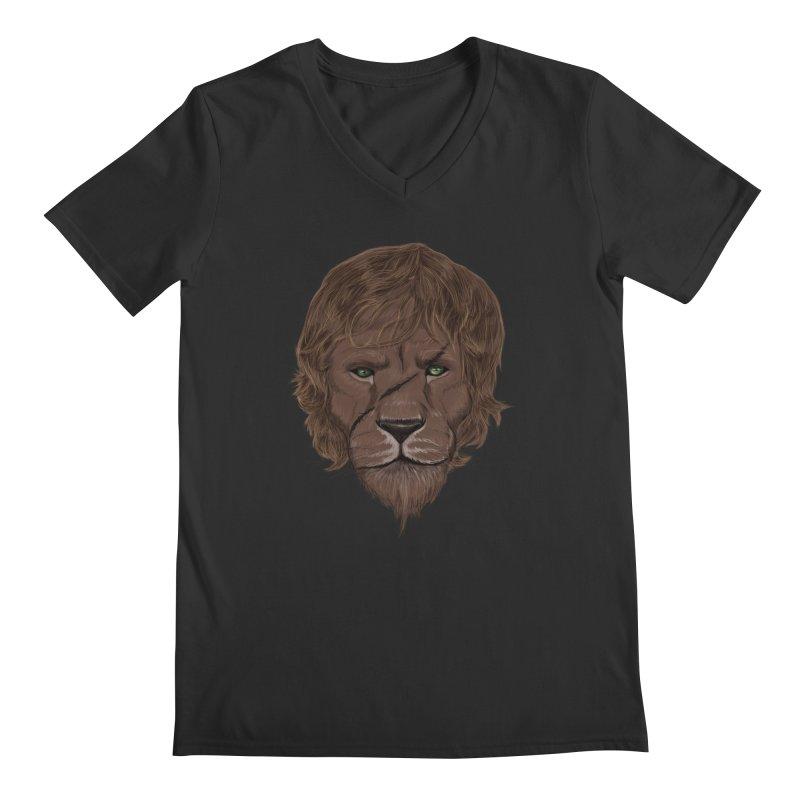 Scarred Lion Men's Regular V-Neck by ibeenthere's Artist Shop
