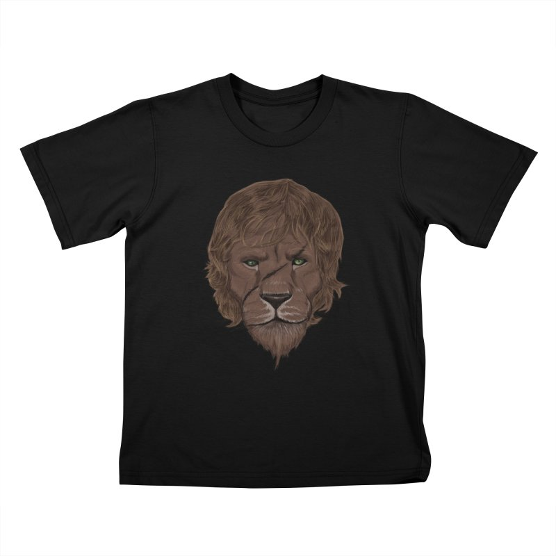 Scarred Lion Kids T-Shirt by ibeenthere's Artist Shop