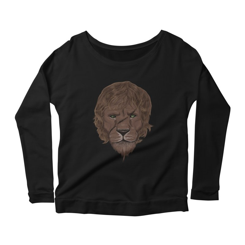 Scarred Lion Women's Scoop Neck Longsleeve T-Shirt by ibeenthere's Artist Shop