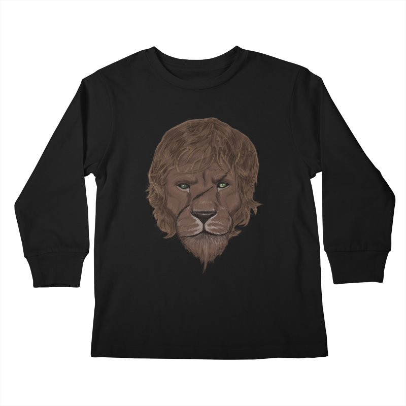 Scarred Lion Kids Longsleeve T-Shirt by ibeenthere's Artist Shop