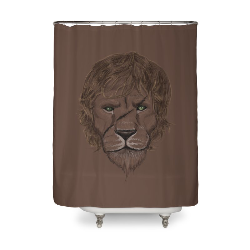 Scarred Lion Home Shower Curtain by ibeenthere's Artist Shop
