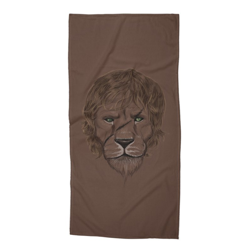 Scarred Lion Accessories Beach Towel by ibeenthere's Artist Shop