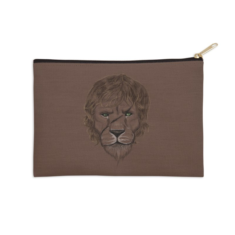Scarred Lion Accessories Zip Pouch by ibeenthere's Artist Shop