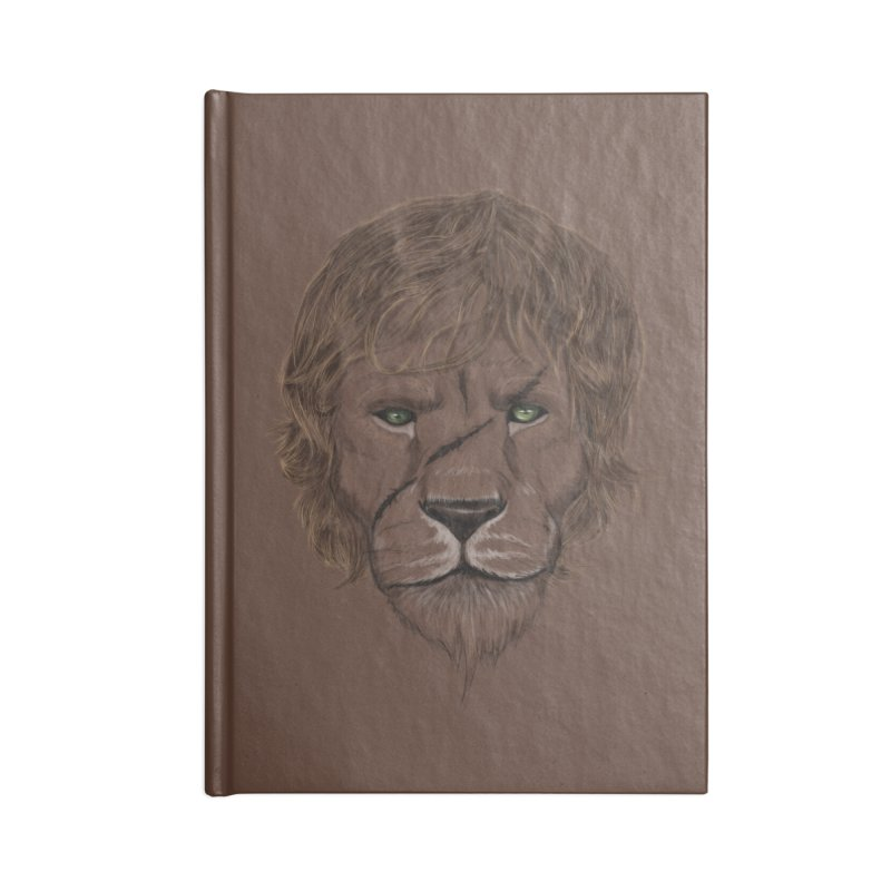 Scarred Lion Accessories Blank Journal Notebook by ibeenthere's Artist Shop