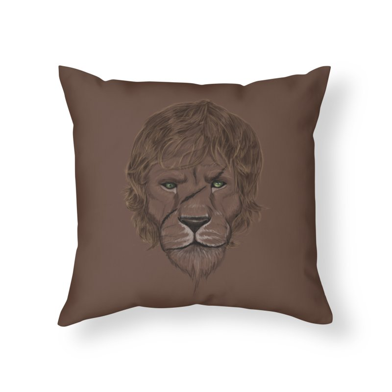 Scarred Lion Home Throw Pillow by ibeenthere's Artist Shop