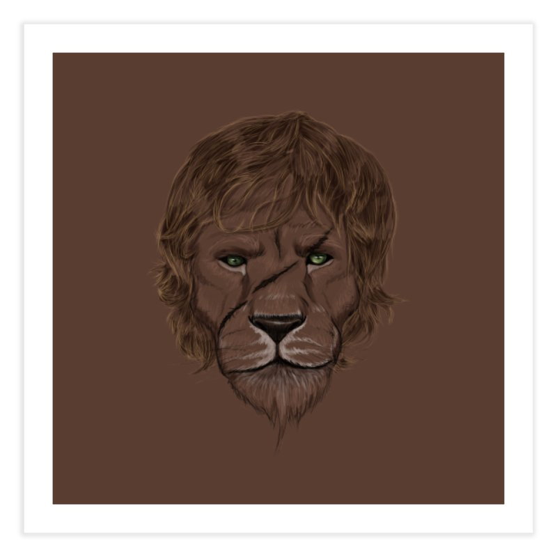 Scarred Lion Home Fine Art Print by ibeenthere's Artist Shop