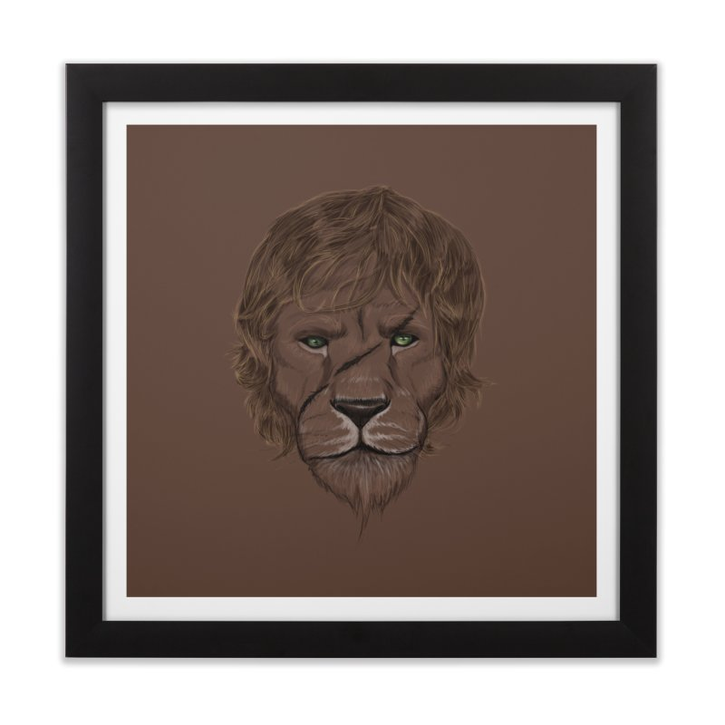 Scarred Lion Home Framed Fine Art Print by ibeenthere's Artist Shop