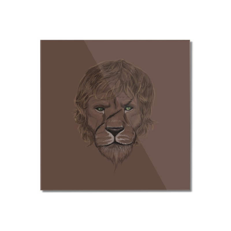 Scarred Lion Home Mounted Acrylic Print by ibeenthere's Artist Shop