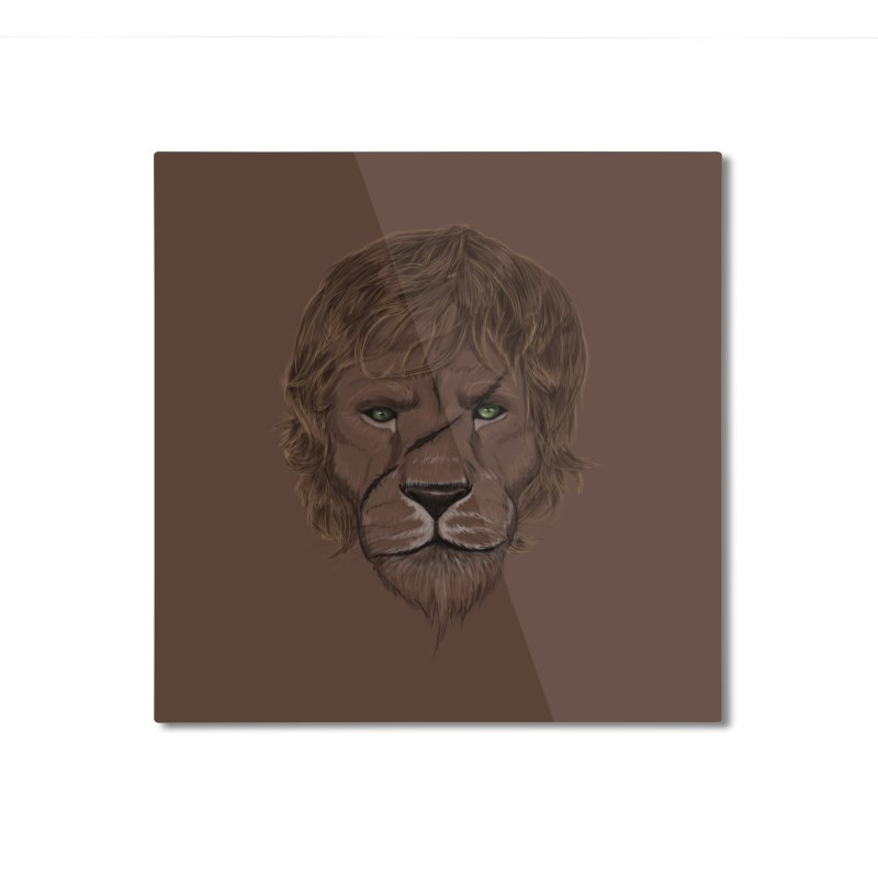 Scarred Lion Home Mounted Aluminum Print by ibeenthere's Artist Shop