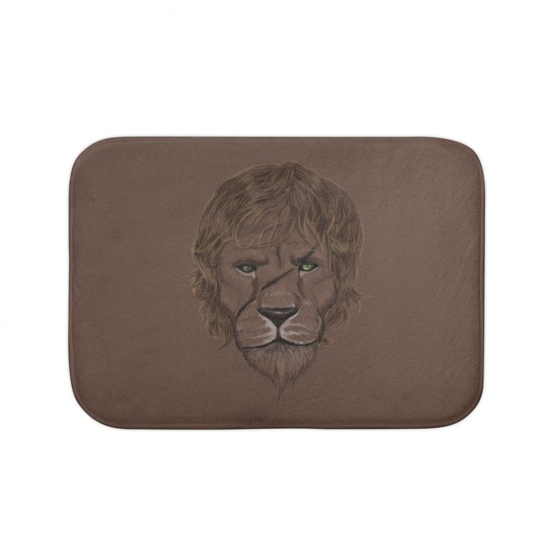 Scarred Lion Home Bath Mat by ibeenthere's Artist Shop