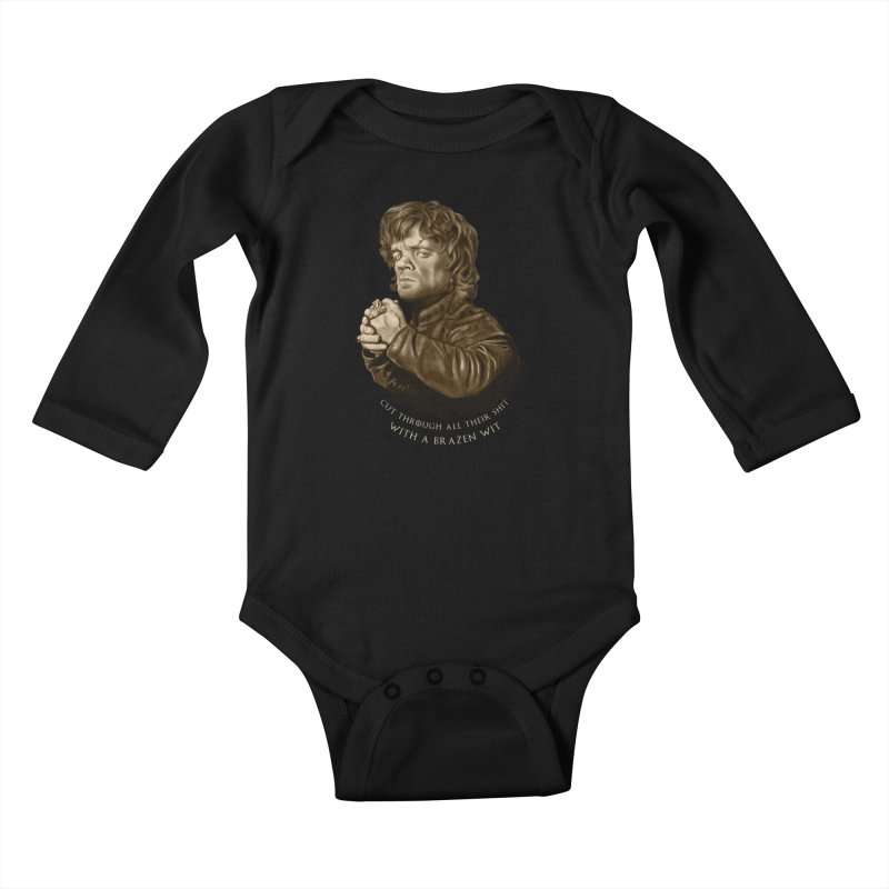 Little Man, Big Shadow Kids Baby Longsleeve Bodysuit by ibeenthere's Artist Shop