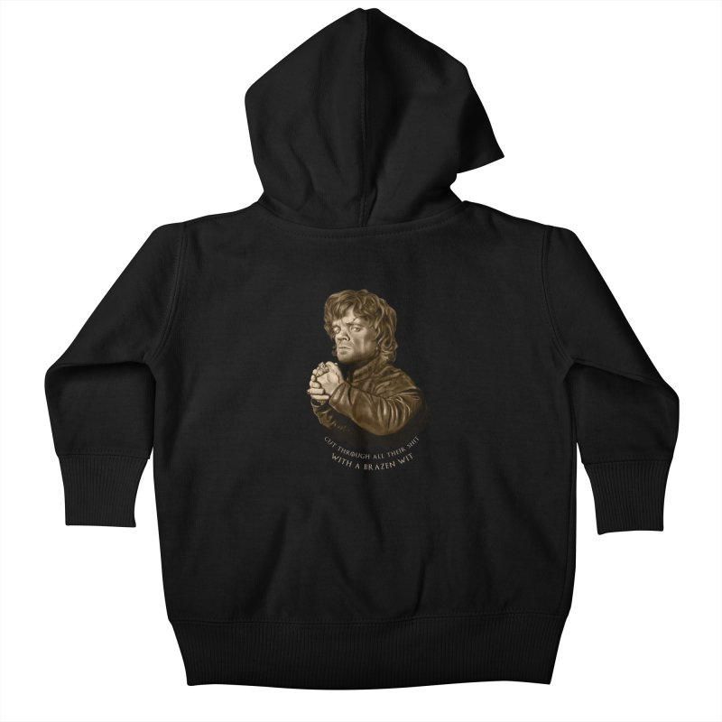Little Man, Big Shadow Kids Baby Zip-Up Hoody by ibeenthere's Artist Shop