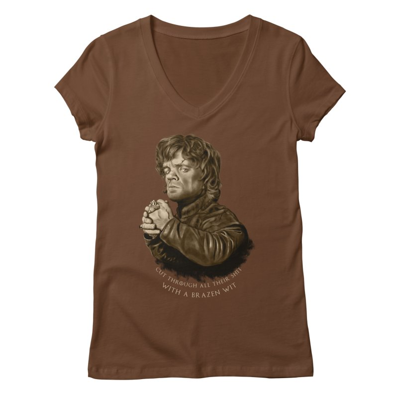 Little Man, Big Shadow Women's V-Neck by ibeenthere's Artist Shop