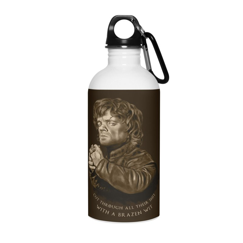 Little Man, Big Shadow Accessories Water Bottle by ibeenthere's Artist Shop