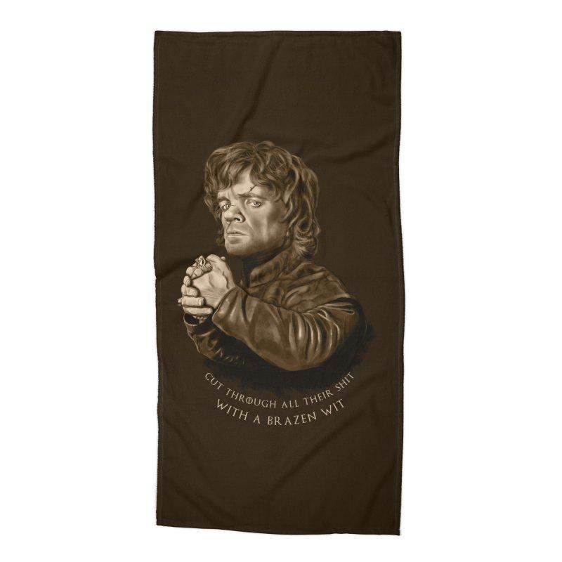 Little Man, Big Shadow Accessories Beach Towel by ibeenthere's Artist Shop