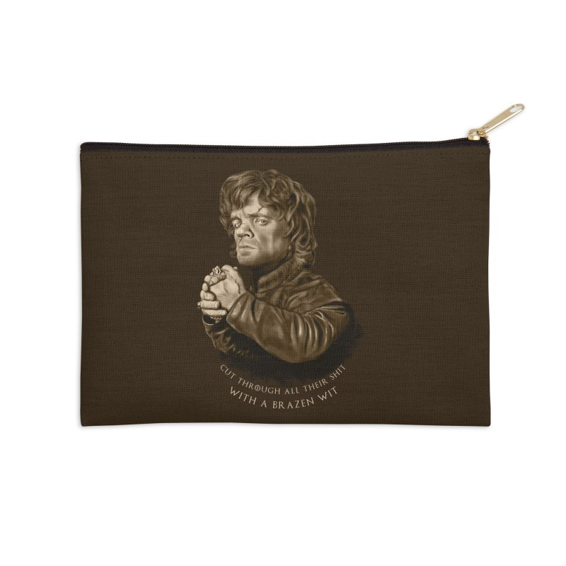 Little Man, Big Shadow Accessories Zip Pouch by ibeenthere's Artist Shop