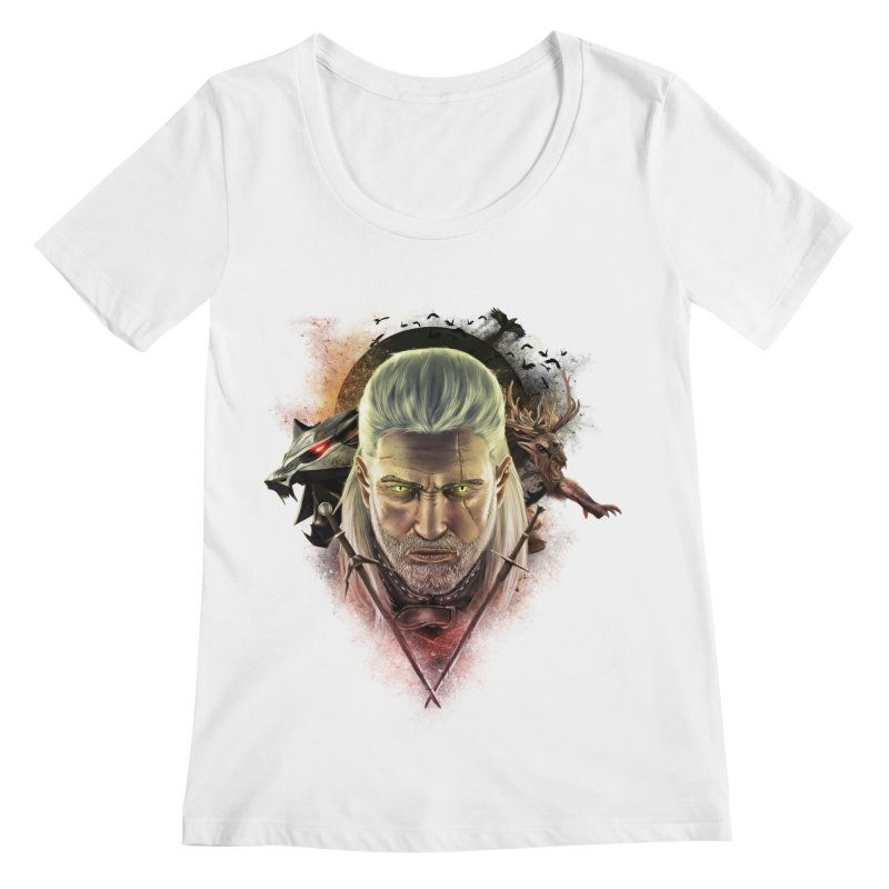 The Witcher Women's Scoopneck by ibeenthere's Artist Shop
