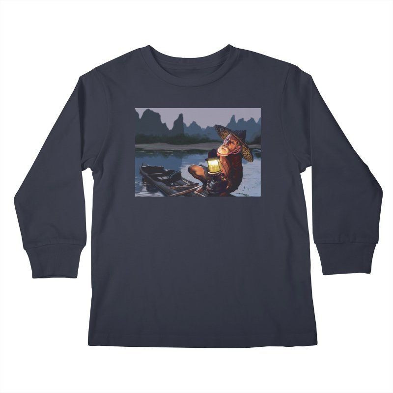 Fisher Kids Longsleeve T-Shirt by ibeenthere's Artist Shop