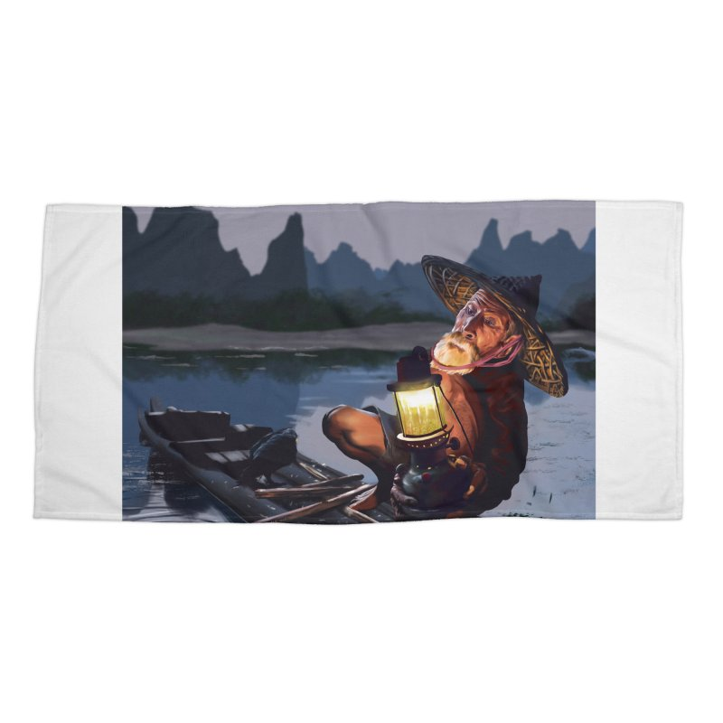 Fisher Accessories Beach Towel by ibeenthere's Artist Shop