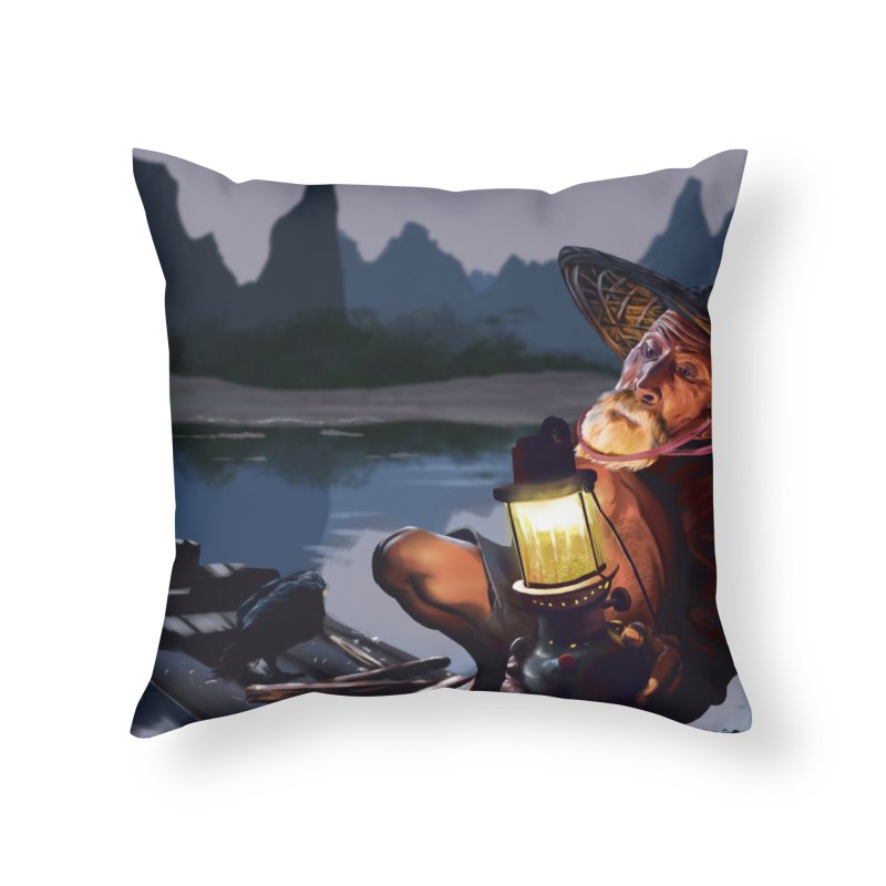 Fisher Home Throw Pillow by ibeenthere's Artist Shop